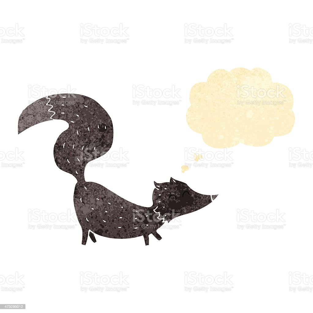 cartoon little wolf cub with thought bubble vector art illustration