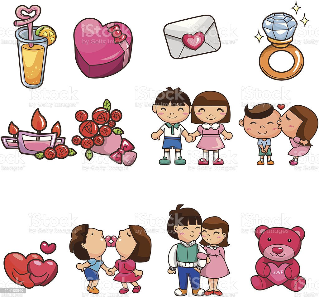 cartoon love element icon royalty-free stock vector art
