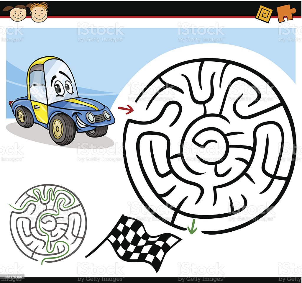 cartoon maze or labyrinth game royalty-free stock vector art