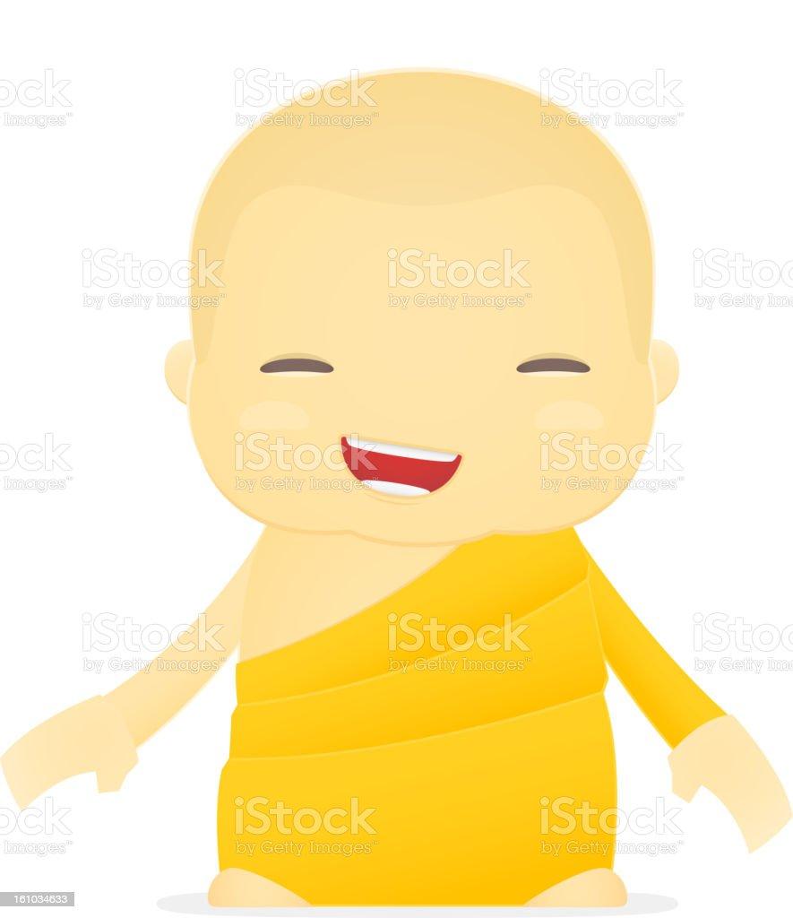 cartoon monk royalty-free stock vector art