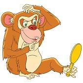 Cartoon monkey animal