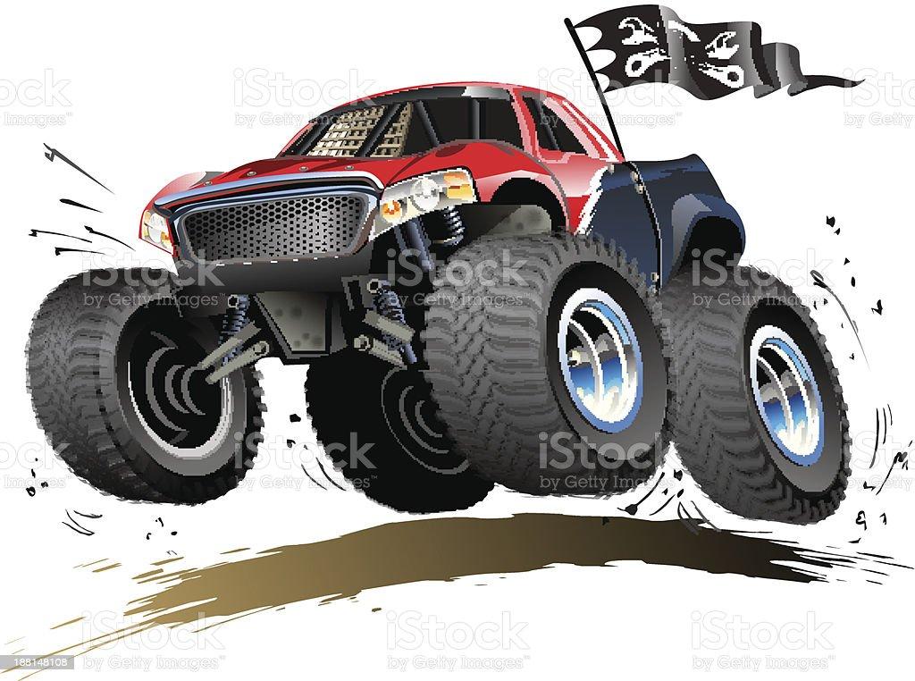 Cartoon Monster Buggy royalty-free stock vector art