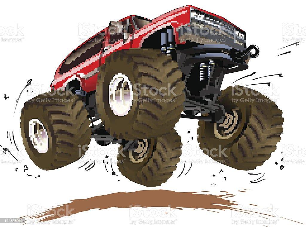 Cartoon Monster Truck royalty-free stock vector art