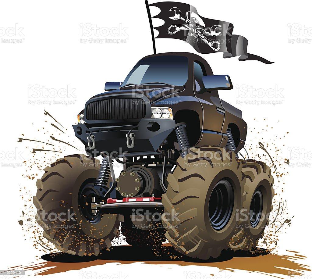 Cartoon Monster Truck vector art illustration
