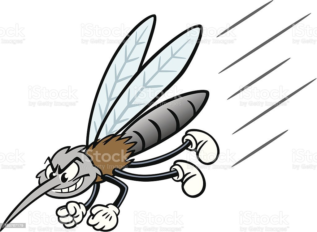 Cartoon Mosquito royalty-free stock vector art