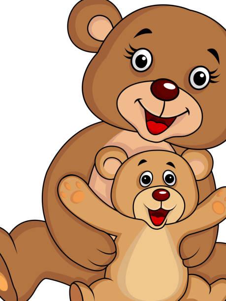 Two Bears Hugging Cartoon Clip Art, Vector Images & Illustrations ...