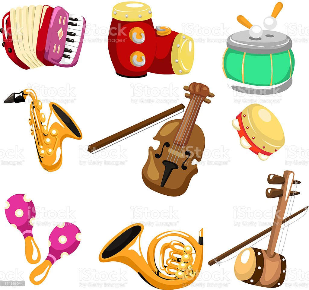 cartoon musical Instruments icon royalty-free stock vector art