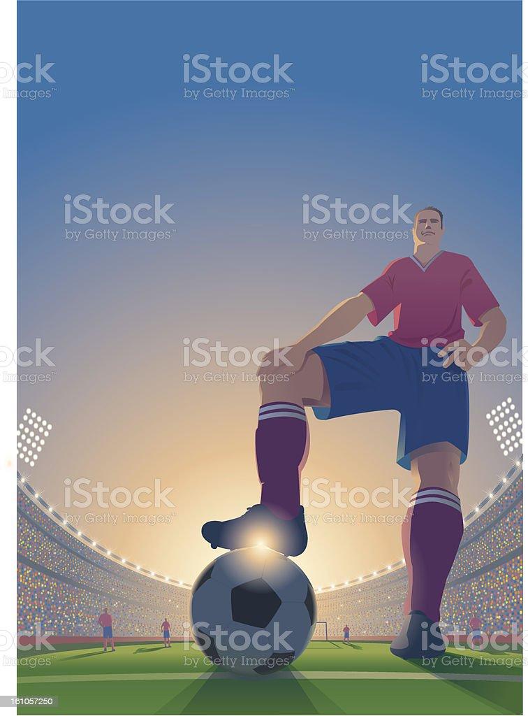 Cartoon of a soccer player. royalty-free stock vector art