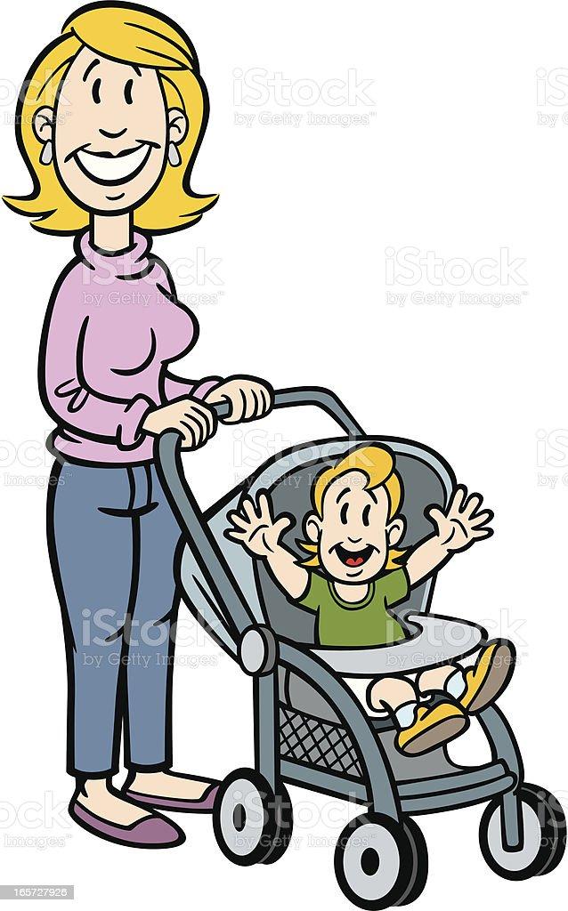 Dessin anim de maman avec b b stock vecteur libres de - Dessin de maman ...