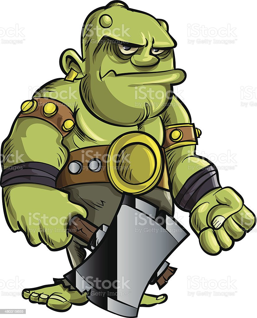 Cartoon dog stock photos images amp pictures shutterstock - Cartoon Ogre With A Big Axe Royalty Free Stock Vector Art