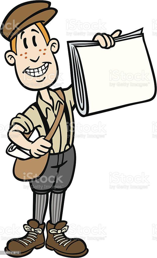 Cartoon Paper Boy royalty-free stock vector art