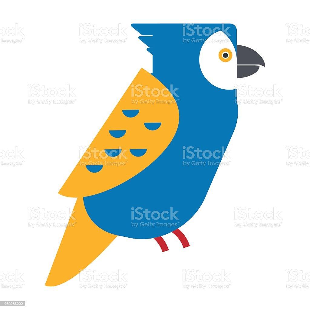 Cartoon parrot vector vector art illustration