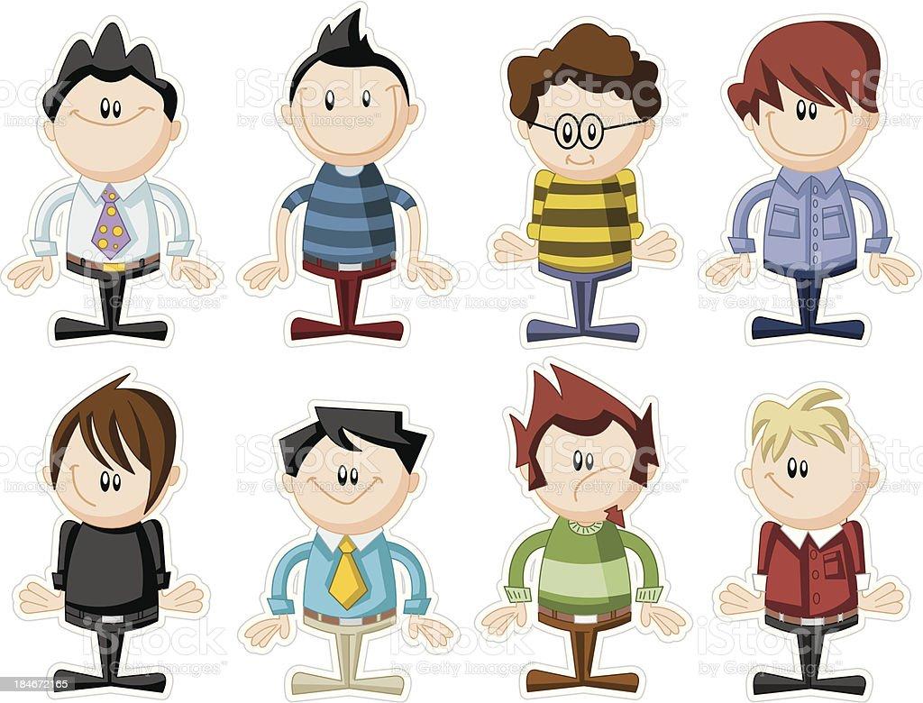 cartoon people royalty-free stock vector art