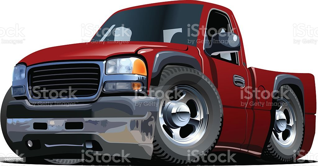 Cartoon pickup stock vector vector art illustration