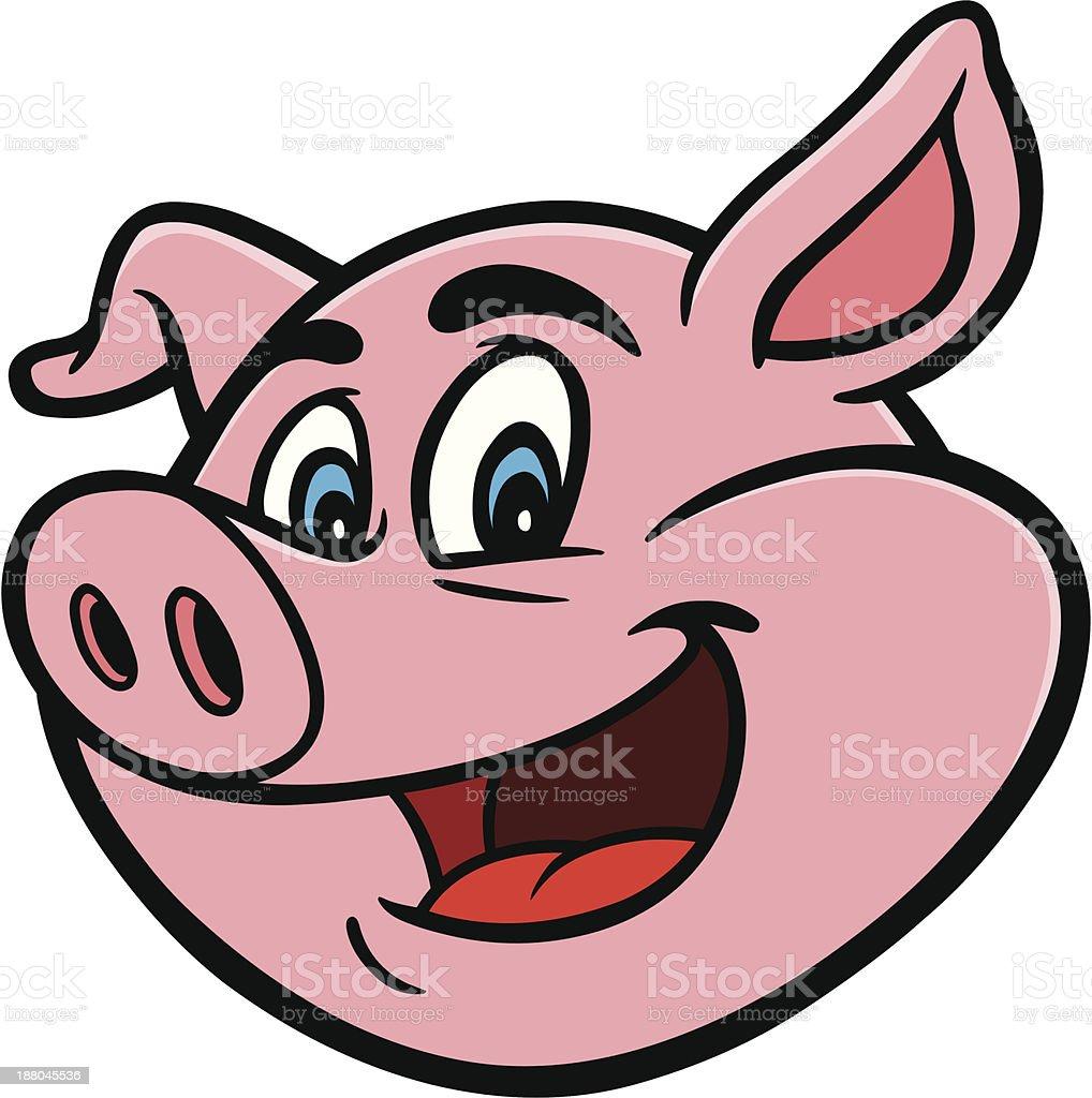 Cartoon Pig vector art illustration