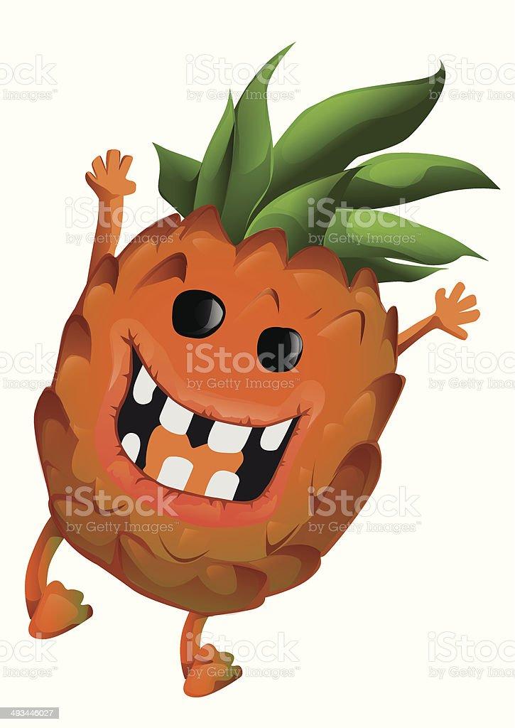 Dessin d'ananas stock vecteur libres de droits libre de droits