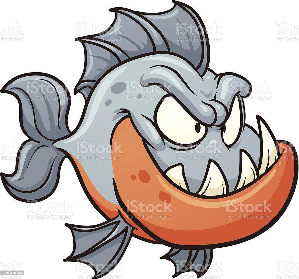 Cartoon piranha royalty-free stock vector art
