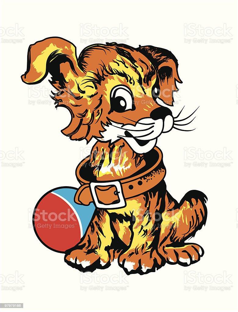 cartoon playfull little dog royalty-free stock vector art