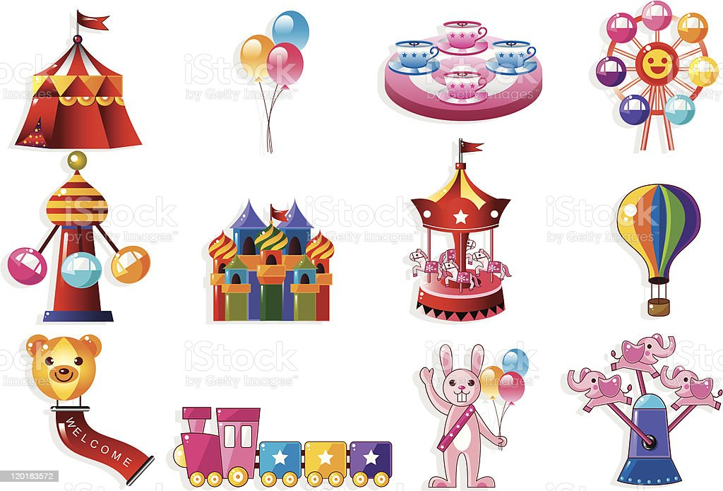 cartoon playground icon royalty-free stock vector art