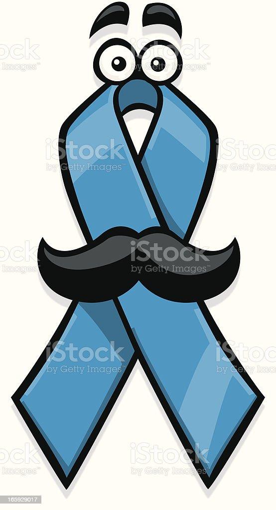 cartoon prostate cancer ribbon royalty-free stock vector art