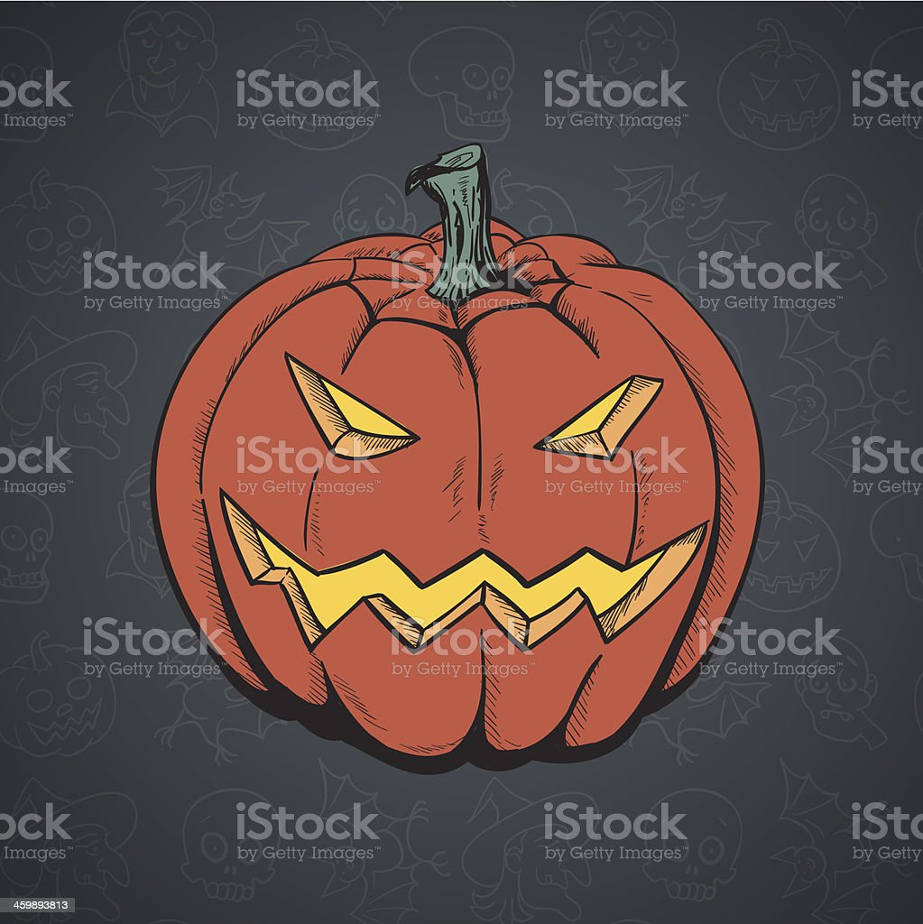 Cartoon Pumpkin. royalty-free stock vector art