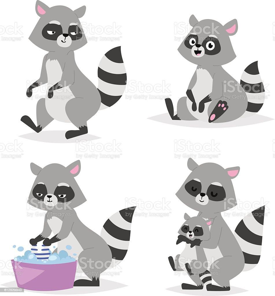 100 Free Cute Raccoon Cartoon Animal