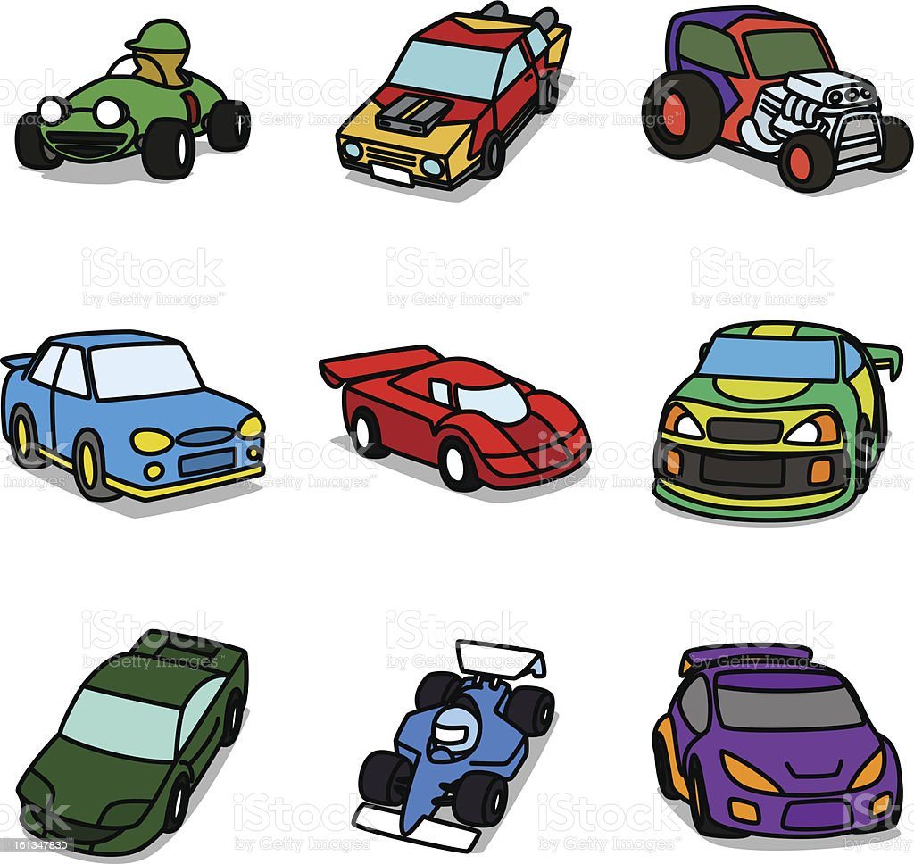 Cartoon Racing Cars Stock Vector Art Istock
