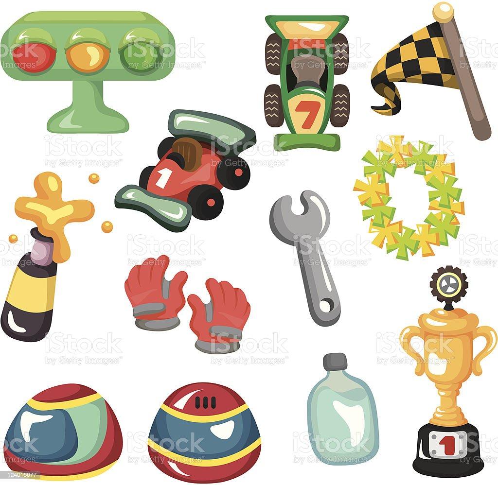 cartoon racing element royalty-free stock vector art