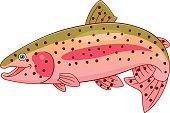 Cartoon rainbow trout