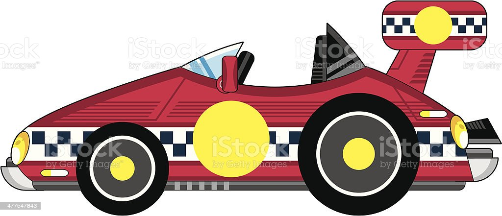 Cartoon Red Sports Car royalty-free stock vector art