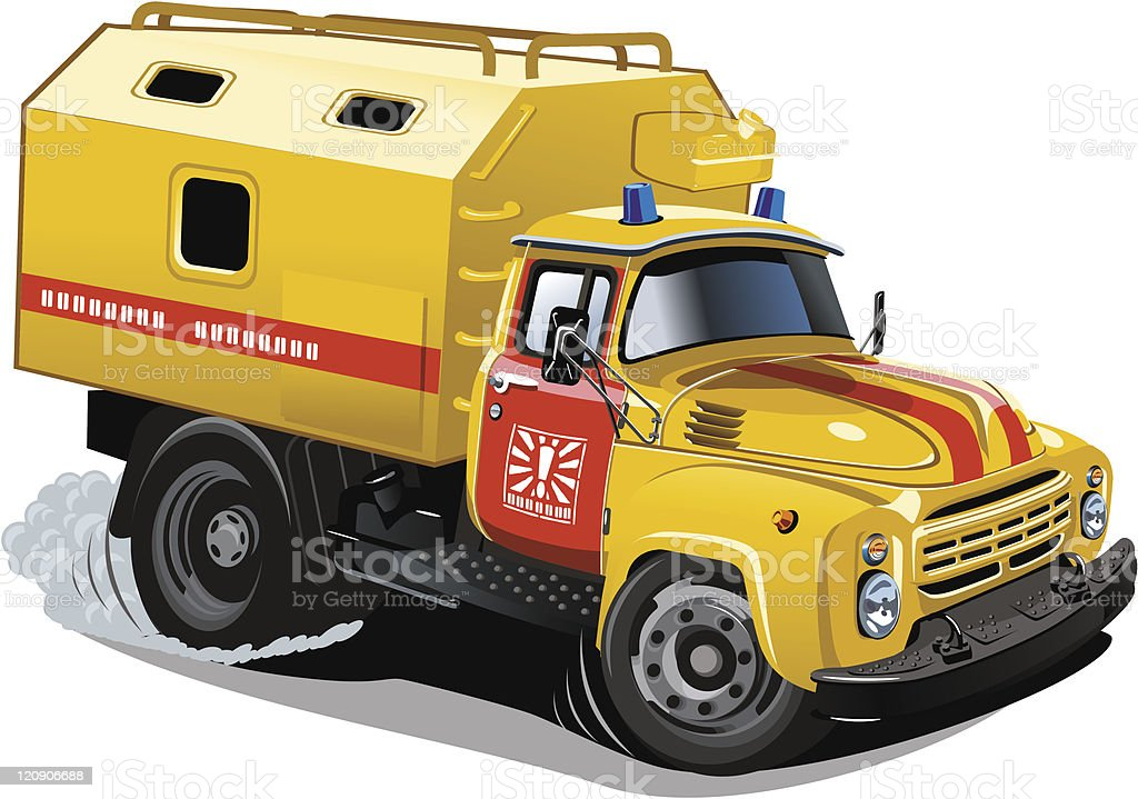 Cartoon repair truck royalty-free stock vector art