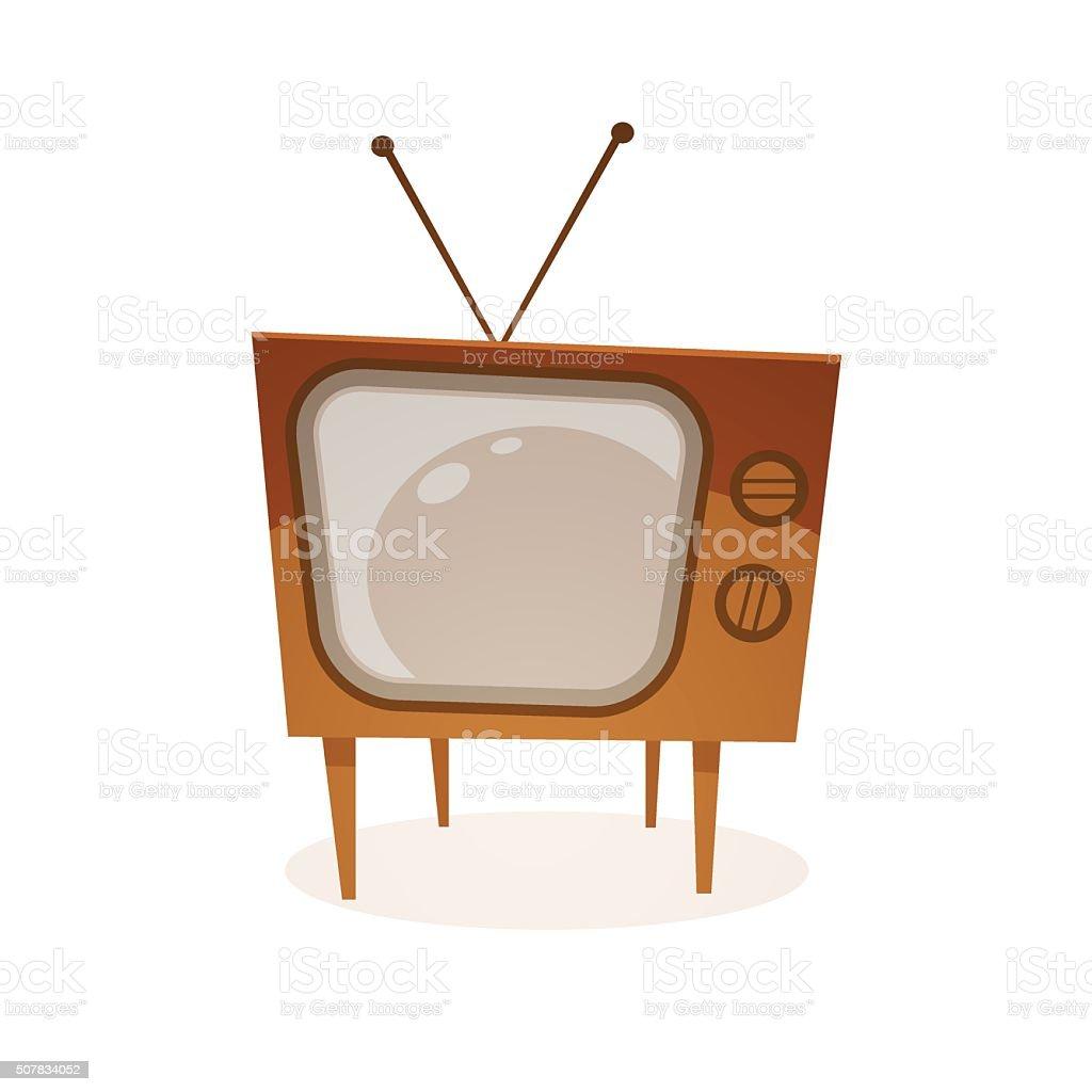 Cartoon Retro Tv vector art illustration