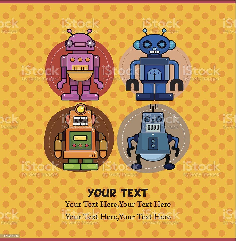cartoon robot card royalty-free stock vector art