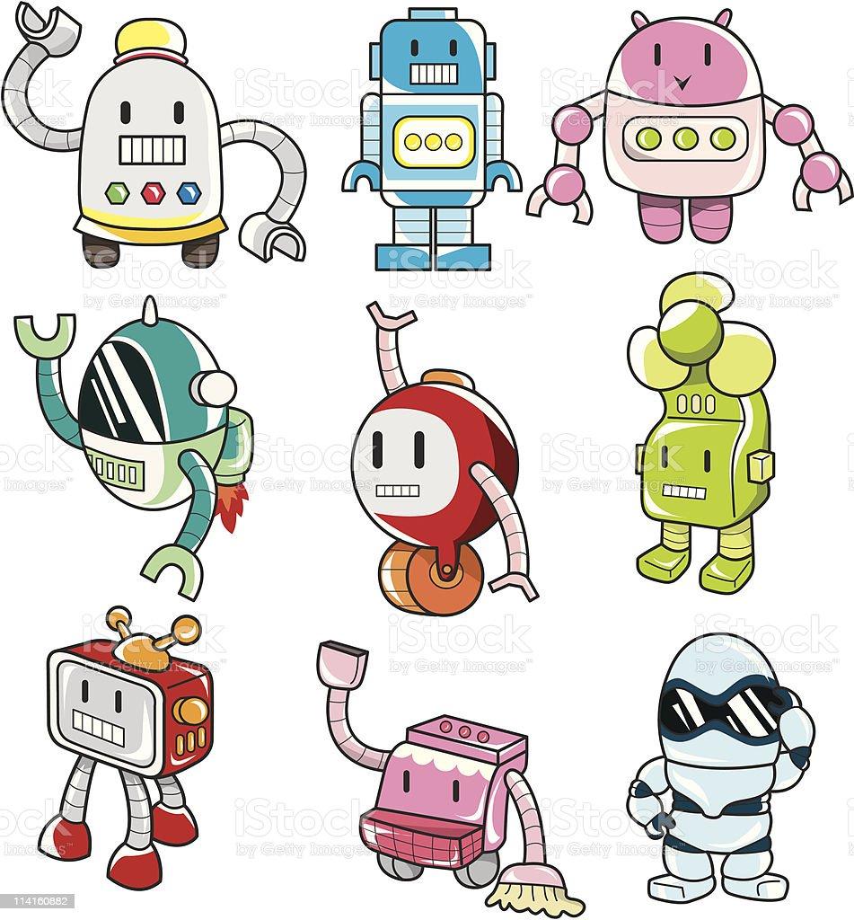 cartoon robot icon royalty-free stock vector art