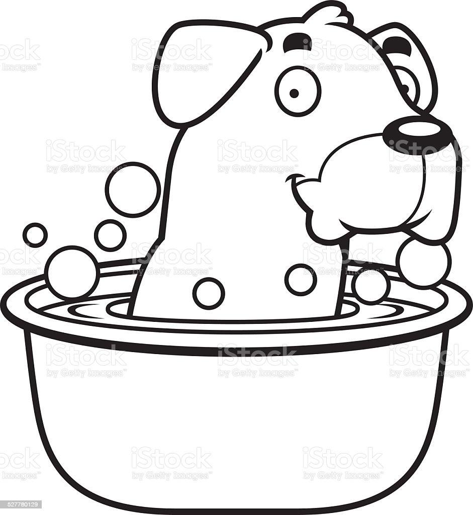 cartoon rottweiler bath stock vector art 527780129 istock