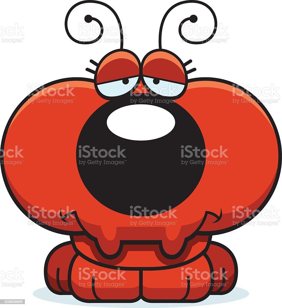 Cartoon Sad Ant vector art illustration