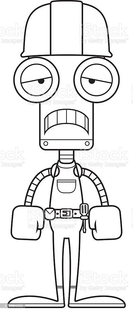 Bauarbeiter bei der arbeit comic  Comic Traurig Bauarbeiter Roboter Vektor Illustration 478684250 ...