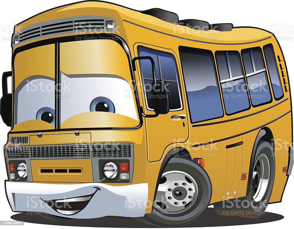 Autobus scolaire dessin anim stock vecteur libres de - Autobus scolaire dessin ...