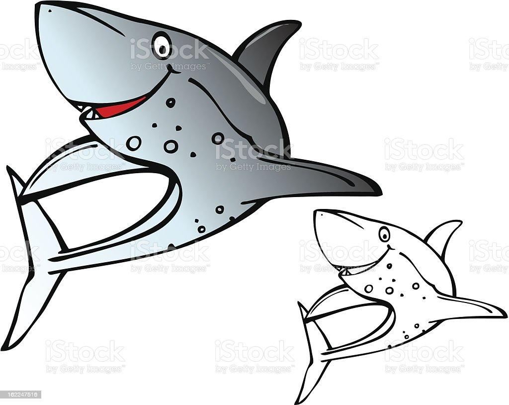 Cartoon Shark royalty-free stock vector art