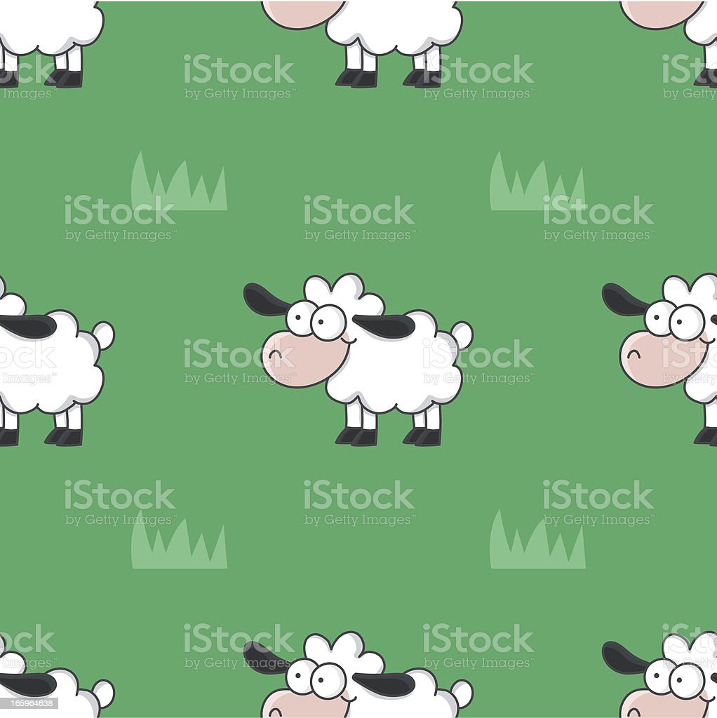 cartoon sheep seamless pattern royalty-free stock vector art