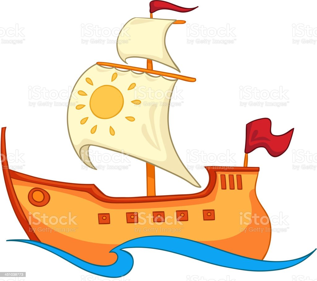 Cartoon Ship royalty-free stock vector art