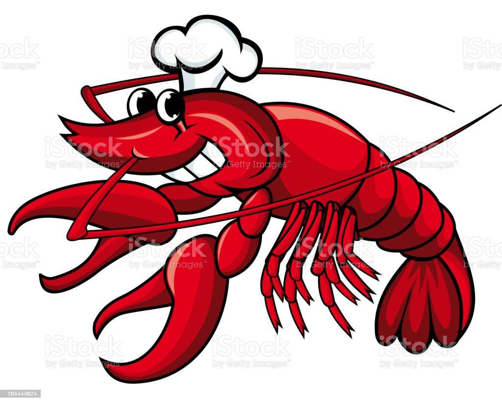 Cartoon shrimp royalty-free stock vector art