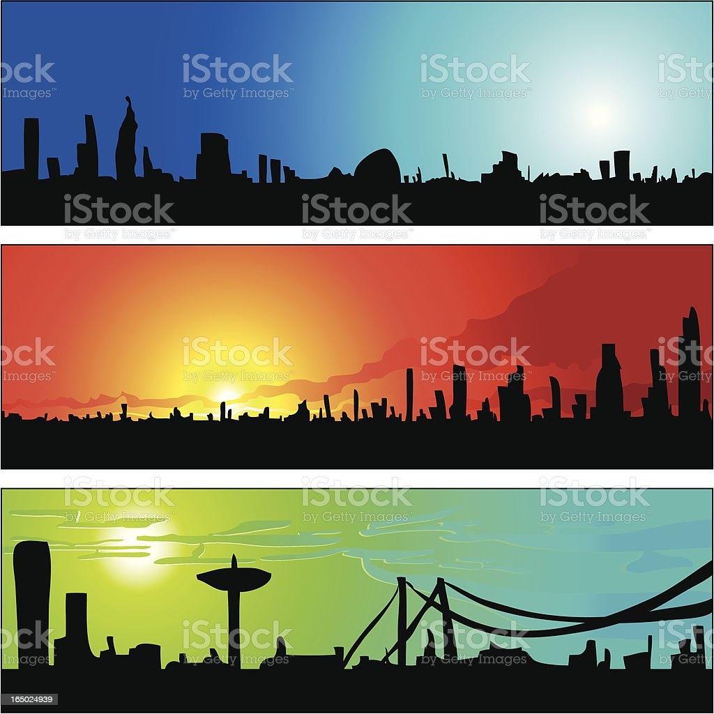 Cartoon Skyline Panel 01 royalty-free stock vector art