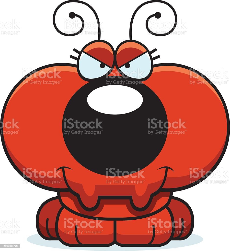 Cartoon Sly Ant vector art illustration