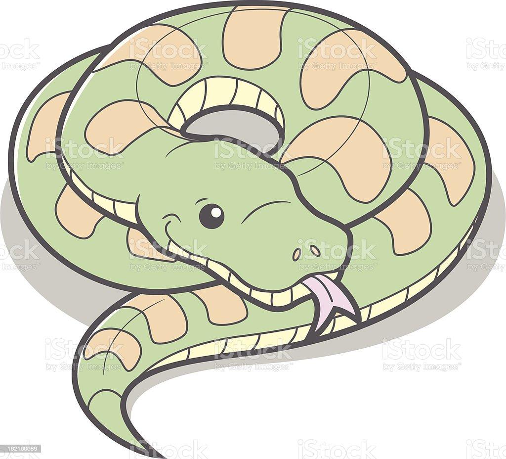 Cartoon Snake vector art illustration