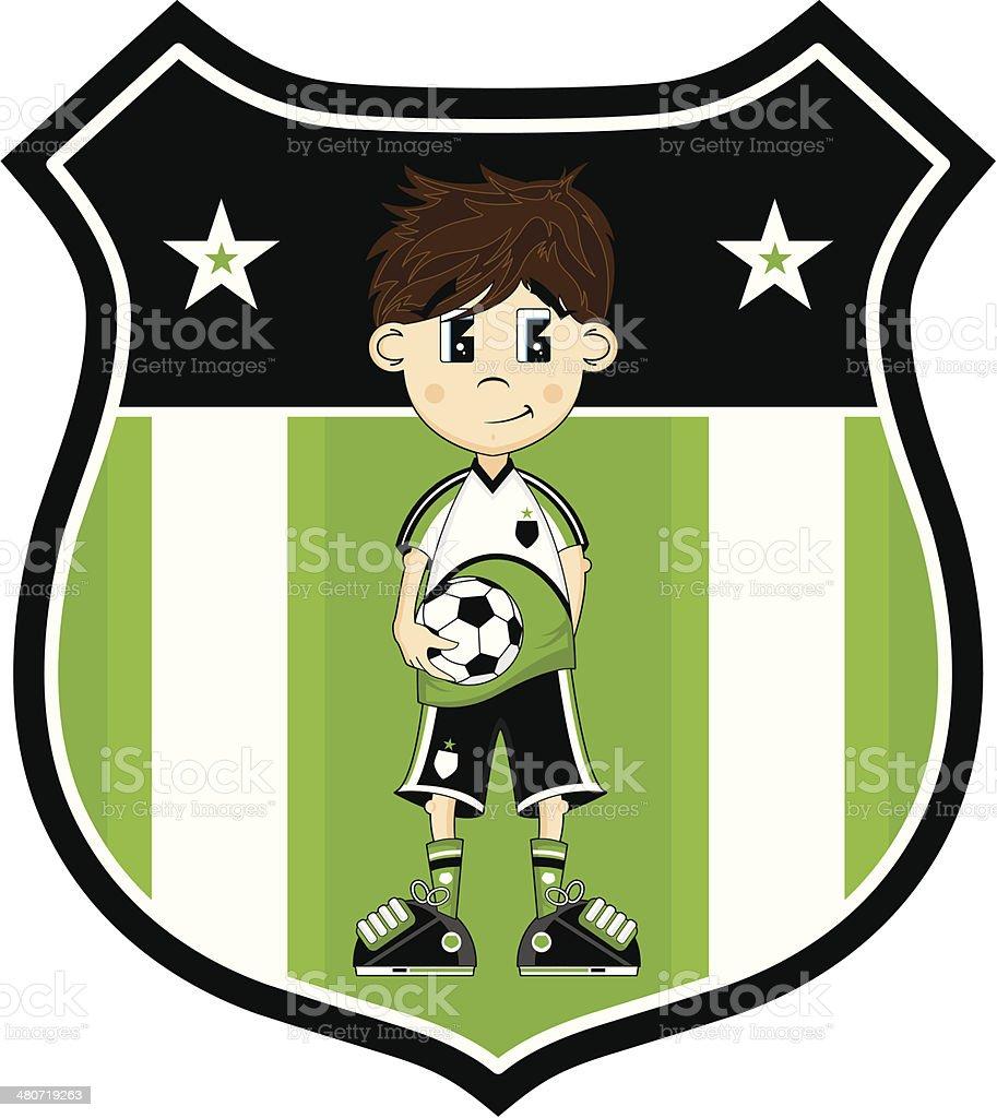 Cartoon Soccer Boy Character vector art illustration
