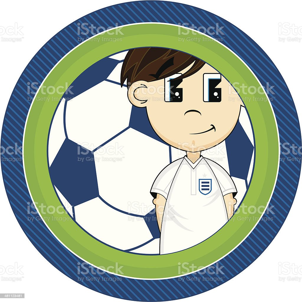 Cartoon Soccer Boy Character royalty-free stock vector art