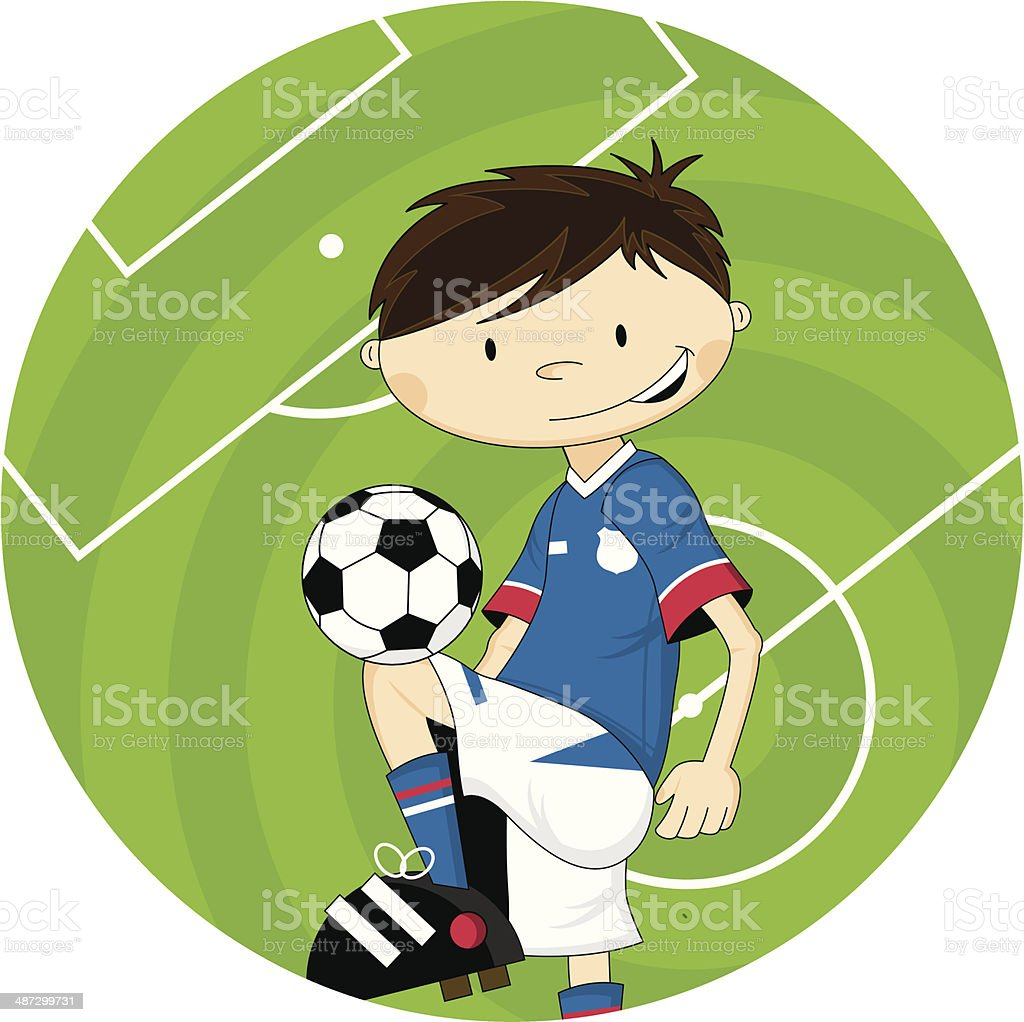 Cartoon Soccer Football Boy Character royalty-free stock vector art