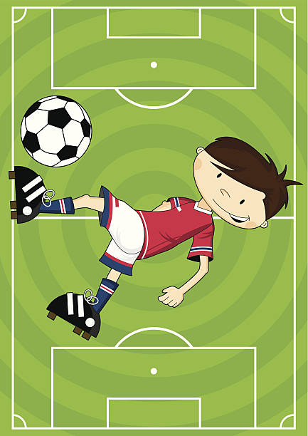 Bicycle Kick Clip Art, Vector Images & Illustrations - iStock