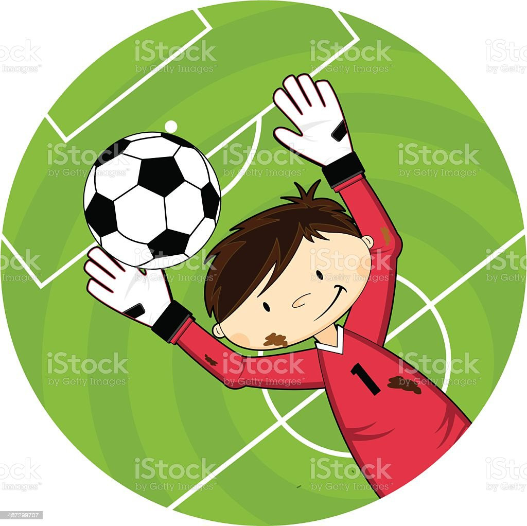 Cartoon Soccer Football Goalkeeper Character royalty-free stock vector art